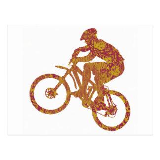 blazin de désert de vélo carte postale