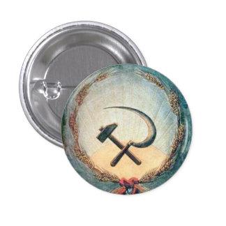 Blé de marteau et de faucille petit, 1 bouton rond badges