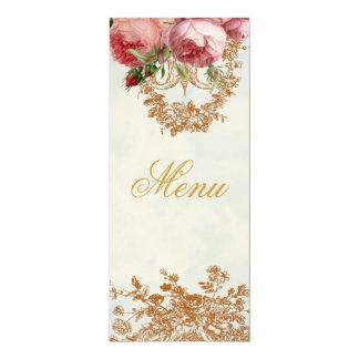 Blenheim s'est levé - ciel d'été - menu carton d'invitation  10,16 cm x 23,49 cm