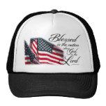 Blessed patriotique est la nation casquette de camionneur