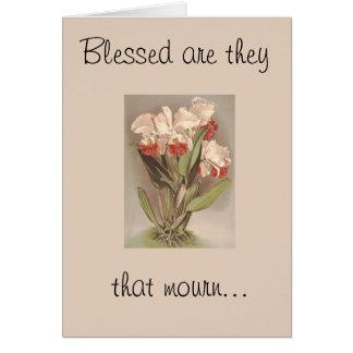 Blessed sont eux cette carte de pleurer-Sympathie