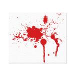 Blessure sanglante d'éclaboussure de sang saignant toile tendue