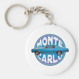 bleu 1970 chevy de Monte Carlo Porte-clé Rond