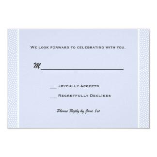 Bleu aimé - carte de réponse carton d'invitation 8,89 cm x 12,70 cm