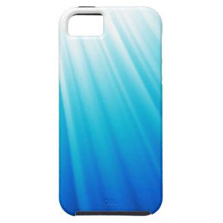 Bleu blanc léger merveilleux d'aqua d'Ombre Coque Tough iPhone 5