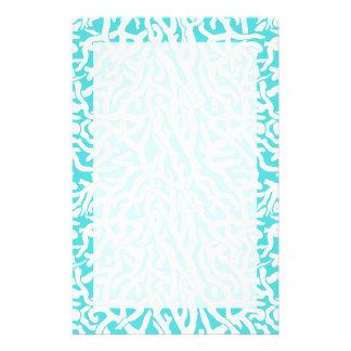 Bleu blanc nautique de motif de récif coralien de papeterie