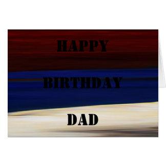 Bleu blanc rouge d'anniversaire de carte