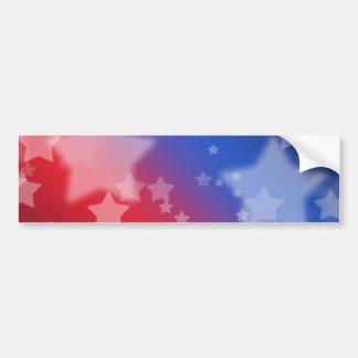 Bleu blanc rouge d'étoiles patriotiques de cadeaux adhésif pour voiture