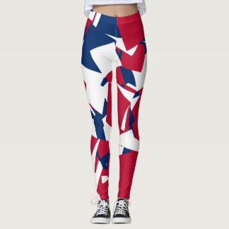 Bleu blanc rouge leggings