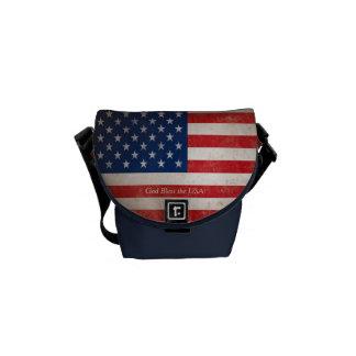 Bleu blanc rouge patriotique de drapeau américain sacoche