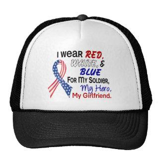 Bleu blanc rouge pour mon amie casquettes de camionneur