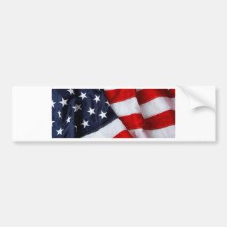 Bleu blanc rouge roulé et plié de drapeau américai autocollant pour voiture