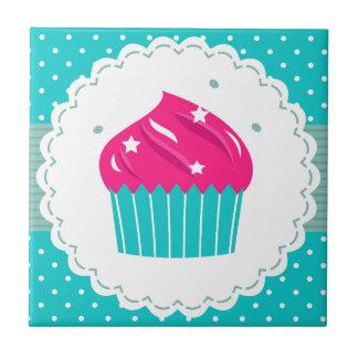 Bleu bleu extraordinaire de rose de petit gâteau petit carreau carré