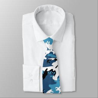 Bleu Camo d'hiver Cravates