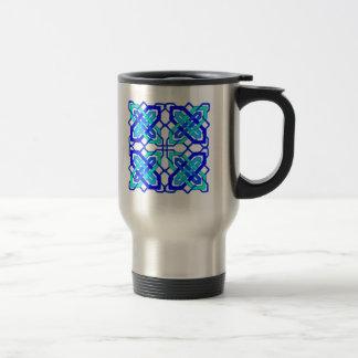 Bleu celtique du noeud 3 tasses