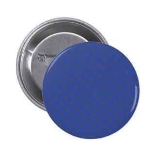 Bleu Cerulean et pois brun clair Badges