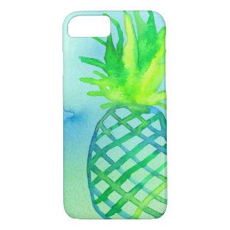 Bleu Chartreuse d'ananas d'aquarelle Coque iPhone 7
