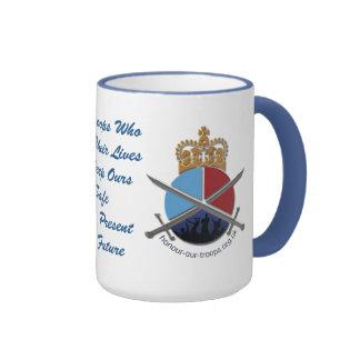 Bleu CHAUD de tasse de sonnerie