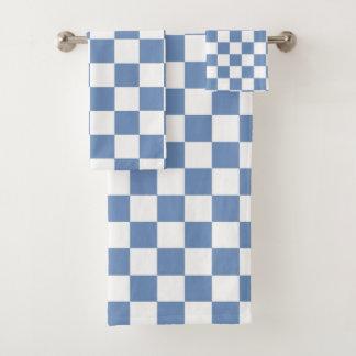 Bleu Checkered/gris et blanc