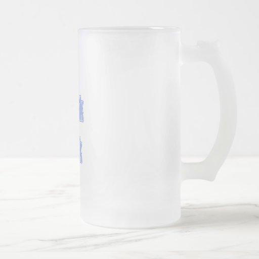 Bleu-clair je parle le geek mugs à café