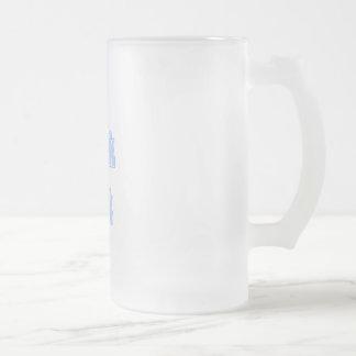 Bleu-clair je parle le geek mug à café