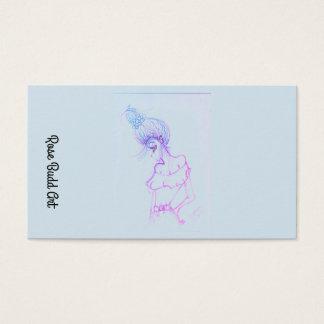 bleu-clair standard de carte de visite