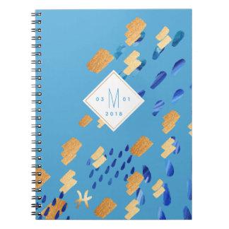 Bleu d'abrégé sur zodiaque de Poissons et carnet