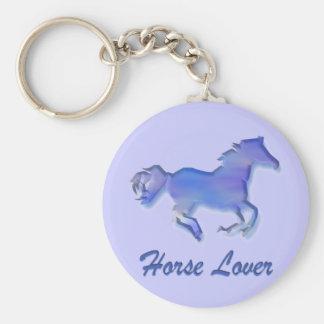 Bleu d'amant de cheval porte-clé rond