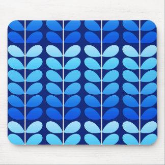 Bleu danois de feuille, de marine et de cobalt de tapis de souris