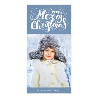 Bleu d'ardoise de Photocard | de Noël très Joyeux Carte