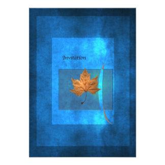 Bleu d'automne faire-part