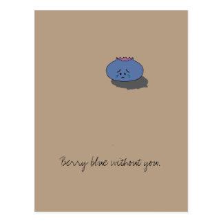"""""""Bleu de baie sans vous"""" carte postale"""