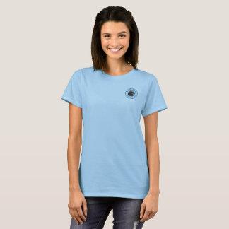 Bleu de base du T-shirt des femmes de marais
