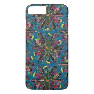 bleu de Bohème de petit bouquet Coque iPhone 8 Plus/7 Plus