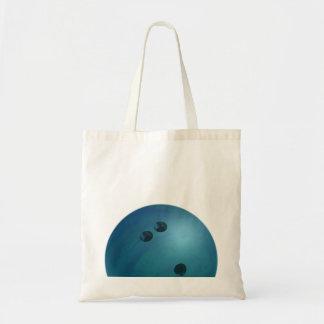 Bleu de boule de bowling sac