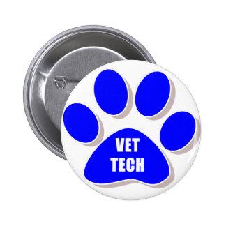bleu de bouton de technologie de vétérinaire pin's