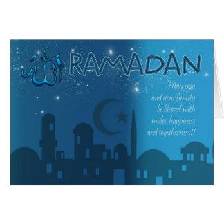 Bleu de carte de Ramadan