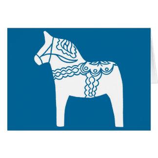 Bleu de cheval de Dala Carte De Vœux
