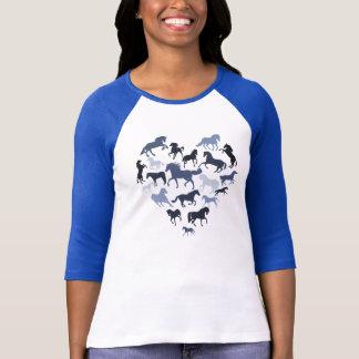 Bleu de cheval et de T-shirt de coeur