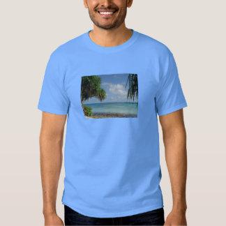 Bleu de ciel adapté par SportTek de T-shirt de la