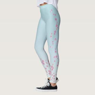 bleu de ciel de lumière de _de _de guêtres de leggings