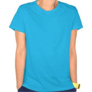 Bleu de ciel + Soeurs blanches du T-shirt de danse