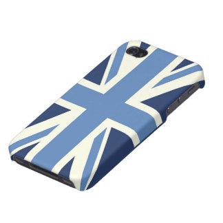 Bleu de ciel Union Jack Étuis iPhone 4