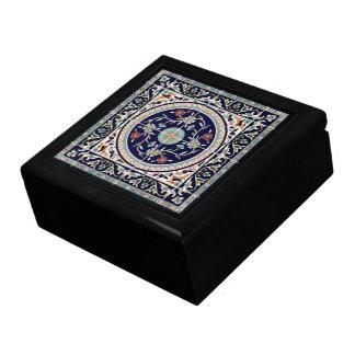 Bleu de cobalt palestinien de carreau de céramique grande boîte à bijoux carrée