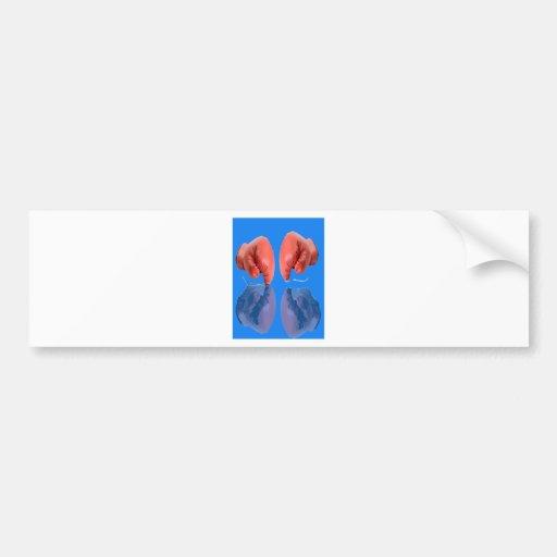 Bleu de coloration frais de gant de boxe adhésifs pour voiture