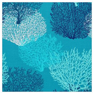 Bleu de corail d'impression, de turquoise, d'Aqua Tissu