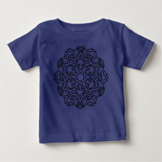 Bleu de corps de bébé avec le mandala t-shirt pour bébé
