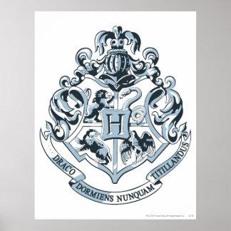 Bleu de crête de Hogwarts Posters
