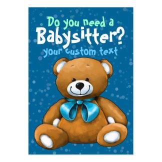 Bleu de garde d enfants de Childcare de garde de b Modèles De Cartes De Visite