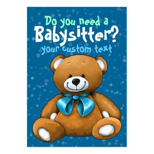 Bleu de garde d'enfants de Childcare de garde de b Modèles De Cartes De Visite